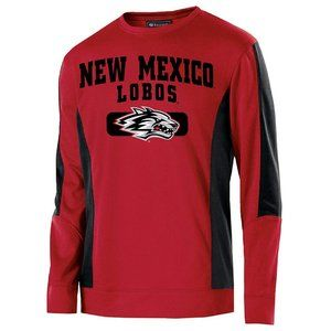 New Mexico Lobos Red Grey Performance Sweatshirt L